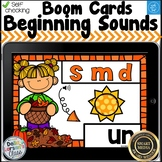 Boom Cards Fall Onset Rimes - Beginning Sounds Distance Learning