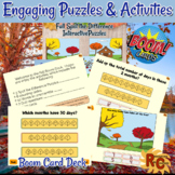 Boom Cards: Fall Puzzles & Activities Grade 3-5