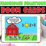 Boom Cards | Farmhouse Friends Equations | May First Grade Math