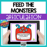 Boom Cards Feed the Monsters Articulation Speech