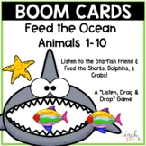 Boom Cards: Feed the Ocean Animals 1-10  Great for Distanc