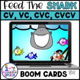 Boom Cards: Feed Me Shark CV, VC, CVC, CVCV | Apraxia | Cy