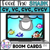 Boom Cards: Feed the Shark CV, VC, CVC, CVCV Apraxia Set