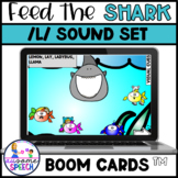 Boom Cards: FEED ME Shark /L/ Articulation All Word Positions