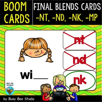 Boom Cards | Final Blends -N- and -M- Cards: MP, NK, ND, NT
