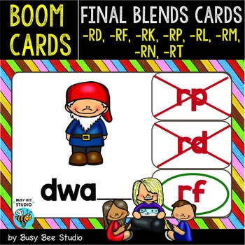 Boom Cards   Final Blends -R- Cards