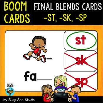 Boom Cards | Final Blends -S- (-st, -sk, -sp)