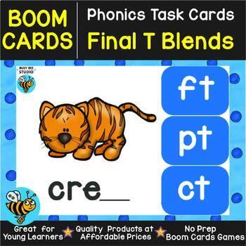 Boom Cards | Final Blends -T- (-ct,-ft,-pt, -xt)