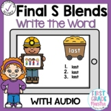 Boom Cards Final S Blends Write the Word