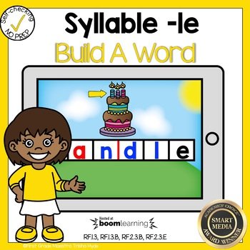 Boom Cards Final Stable Syllable LE Build a Word