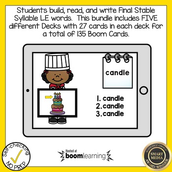 Boom Cards Final Stable Syllable LE Bundle