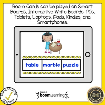 Boom Cards Final Stable Syllable LE Find the Word