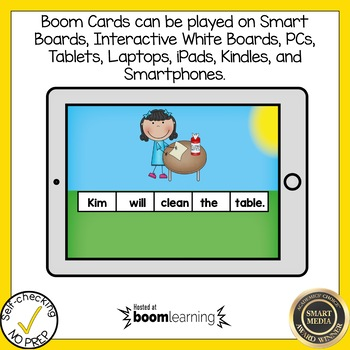 Boom Cards Final Stable Syllable LE Sentence Scrambles