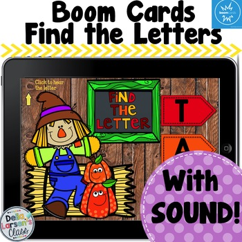 Boom Cards Find The Letter Scarecrow Fun!