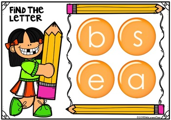 Boom Cards Find the Letter -Pencil Kids