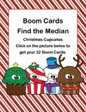 Boom Cards-Find the Median-Christmas Cupcakes