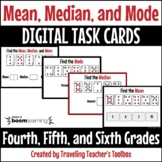 Boom Cards™ Finding Mean, Median, and Mode Distance Learning