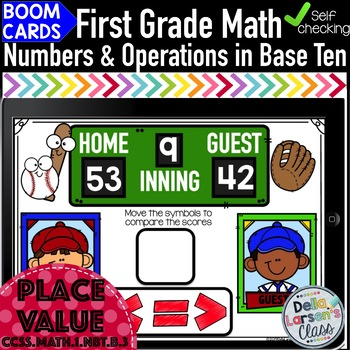 Boom Cards First Grade Comparing Two-Digit Numbers