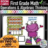 Boom Cards First Grade Counting 2 to Add {1.OA.C.5}