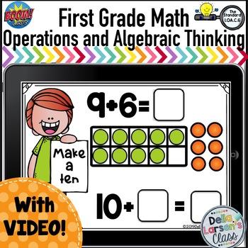 Boom Cards First Grade Make a Ten {1.AO.C.6 Making Equivalent Equations}