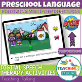 Boom Cards Speech Therapy - Following Multi-Step Direction