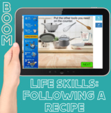 Boom Cards: Following Real Recipes for Life Skills (distance learning w/ audio)