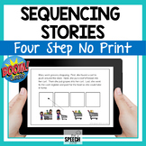 Boom Cards Four Step Sequencing Stories