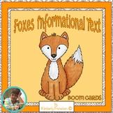 Boom Cards: Foxes ELA Nonfiction Review