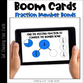 Boom Cards - Fraction Number Bonds Review