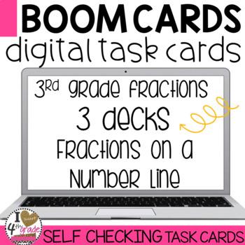 Boom Cards Fraction Number Line bundle