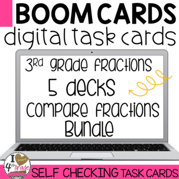 Boom Cards Comparing Fractions bundle