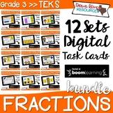 Boom Cards Fractions Bundle TEKS 3.3 | 3rd Grade Fractions Bundle