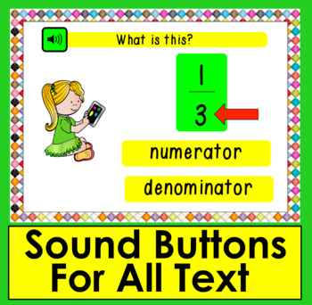 Boom Cards™ Fractions Lesson & Practice: 30 Interactive Cards With Sound!