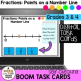 Boom Cards Fractions Points on a Number Line