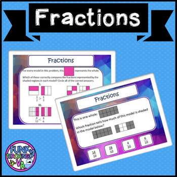 Boom Cards- Fractions TEI- VA SOL #boomlove