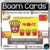 Boom Cards™ Multiplication and Division Unknown Numbers Fr