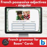 Boom Cards™ - French - Possessive adjectives mon/ma/mes, ton/ta/tes, son/sa/ses