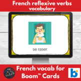 Boom Cards™ - French - common reflexive verb vocabulary