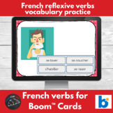 Boom Cards™ - French - reflexive verb vocabulary practice