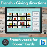 Boom Cards™ - French vocabulary - Directions