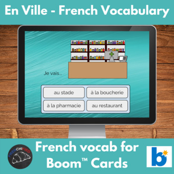 Boom Cards™ - French vocabulary - en Ville