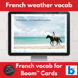 Boom Cards™ - French - weather vocabulary