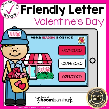Boom Cards Friendly Letter Valentine's Day