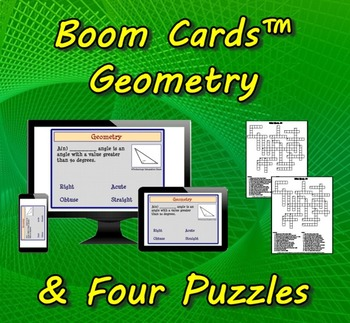 Boom Cards™ Geometry & Four Puzzles