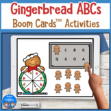 Boom Cards Gingerbread Alphabet Activities