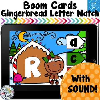 Boom Cards Gingerbread Letter Match