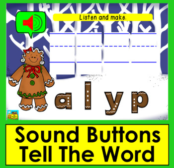 Boom Cards™ Gingerbread Sight Words Unscramble - Dolch Words 21-40 PrePrimer