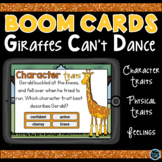 Boom Cards Giraffes Can't Dance Character Traits, Physical Traits and Feelings