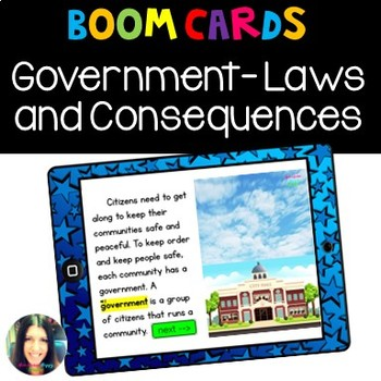 Boom Cards- Government, Laws, and Consequences
