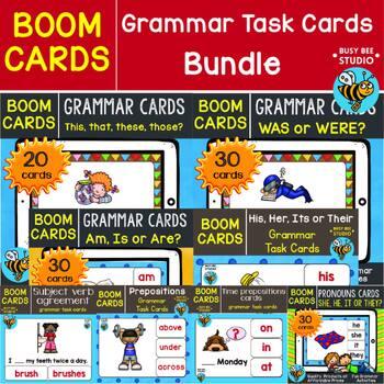 Boom Cards | Grammar Task Cards Bundle